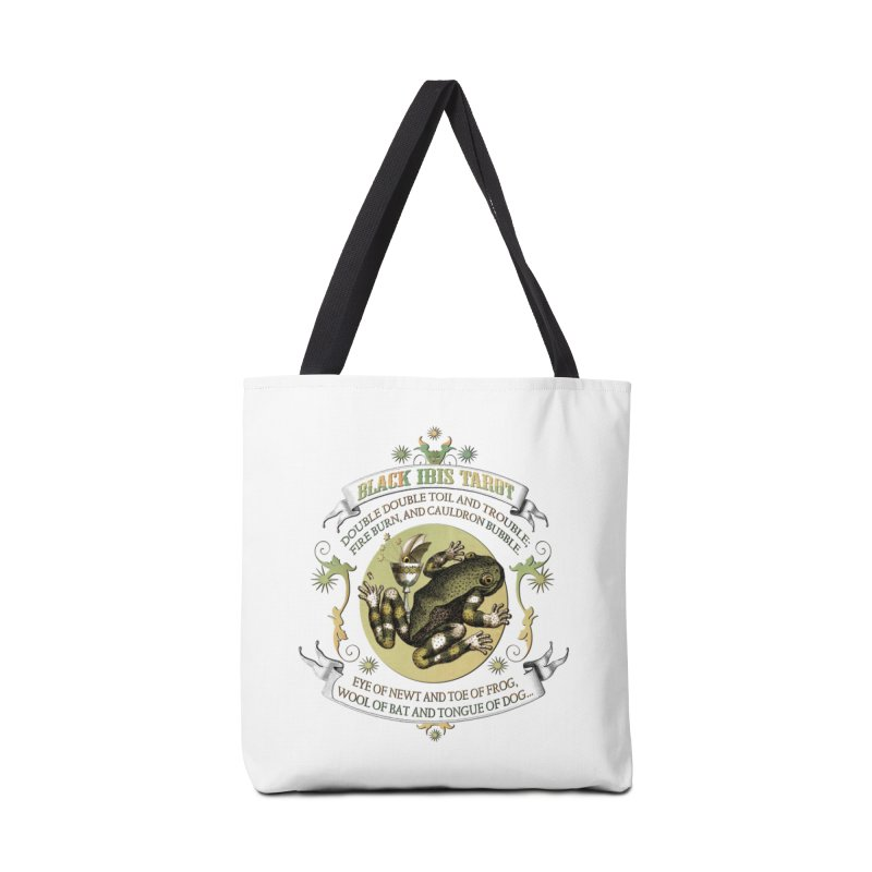 Black Ibis Tarot Eye of Newt Accessories Bag by theatticshoppe's Artist Shop