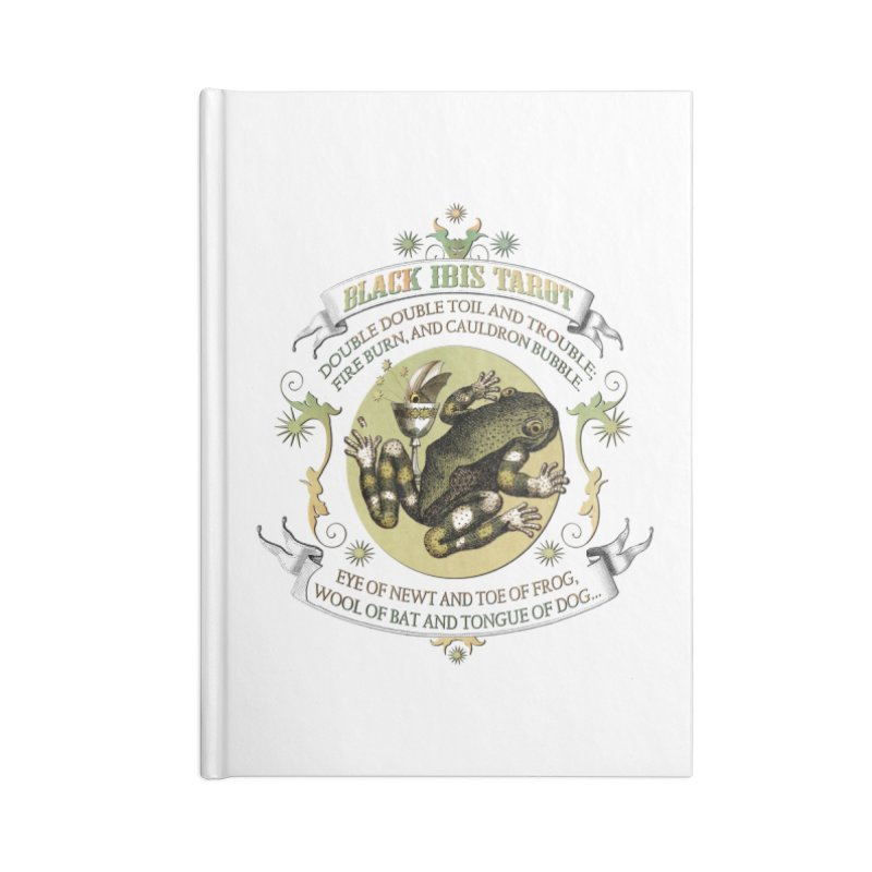 Black Ibis Tarot Eye of Newt Accessories Lined Journal Notebook by theatticshoppe's Artist Shop