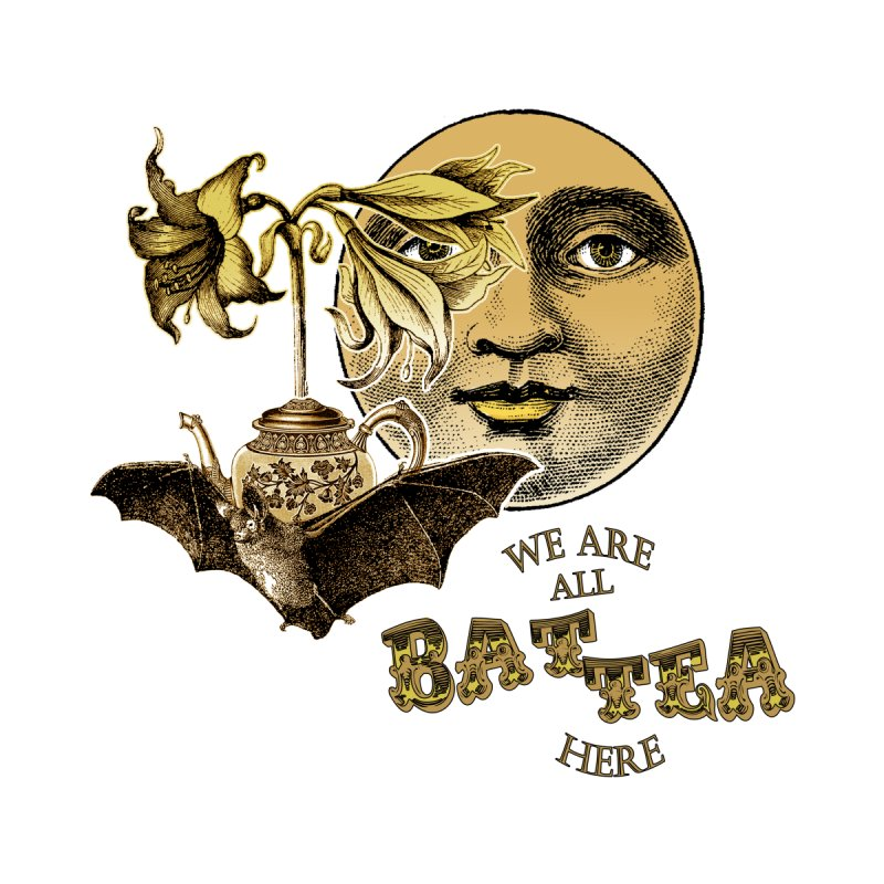 The Tea Bats Lily Bat Design Men's T-Shirt by theatticshoppe's Artist Shop