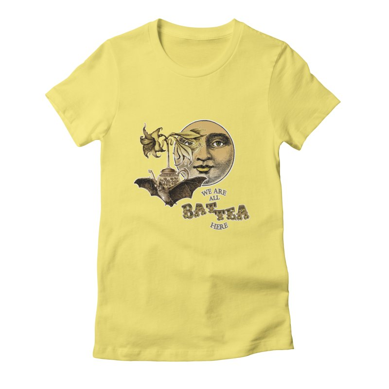 The Tea Bats Lily Bat Design Women's T-Shirt by theatticshoppe's Artist Shop