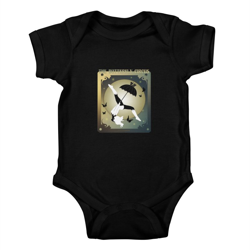 The Butterfly Circus Over the Moon Design Kids Baby Bodysuit by theatticshoppe's Artist Shop