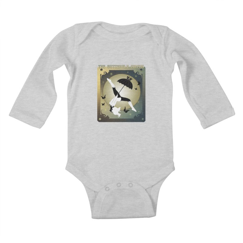 The Butterfly Circus Over the Moon Design Kids Baby Longsleeve Bodysuit by theatticshoppe's Artist Shop