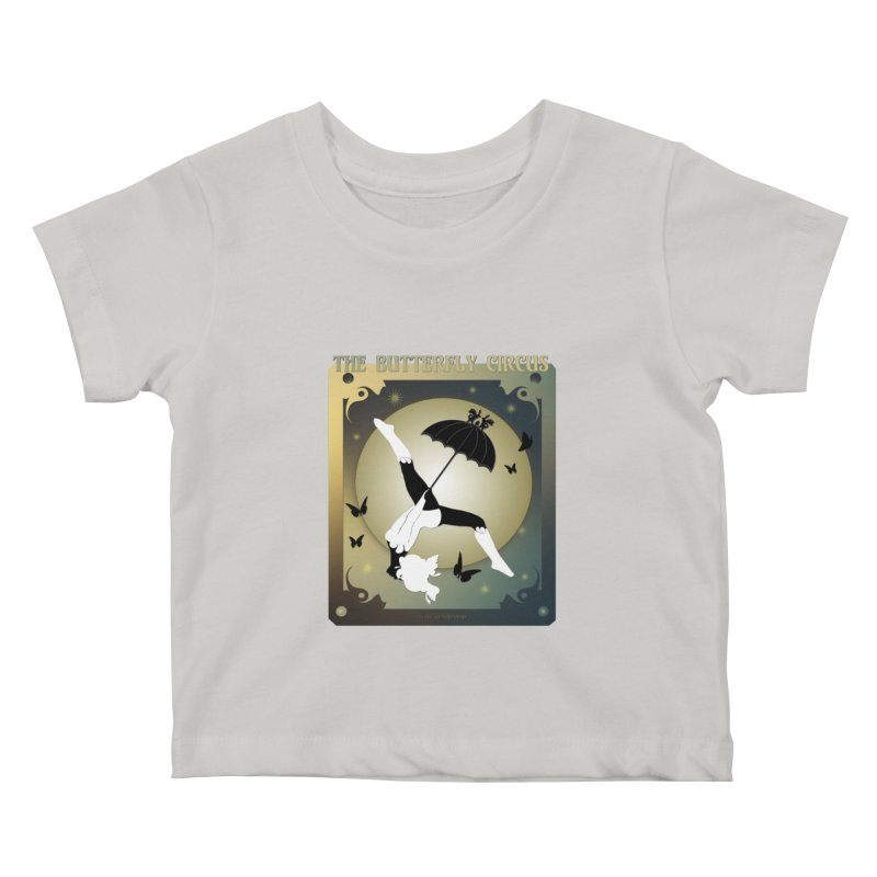 The Butterfly Circus Over the Moon Design Kids Baby T-Shirt by theatticshoppe's Artist Shop