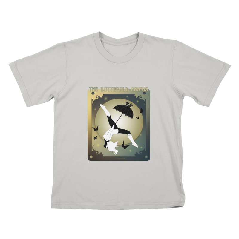 The Butterfly Circus Over the Moon Design Kids T-Shirt by theatticshoppe's Artist Shop
