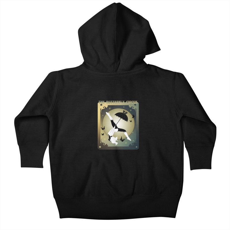 The Butterfly Circus Over the Moon Design Kids Baby Zip-Up Hoody by theatticshoppe's Artist Shop