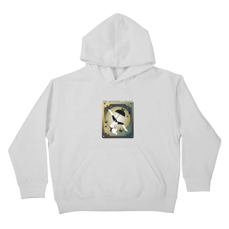 The Butterfly Circus Over the Moon Design Kids Pullover Hoody by theatticshoppe's Artist Shop