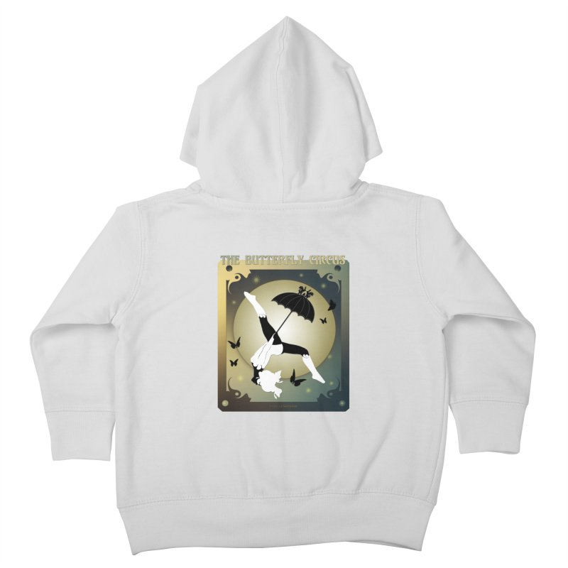 The Butterfly Circus Over the Moon Design Kids Toddler Zip-Up Hoody by theatticshoppe's Artist Shop