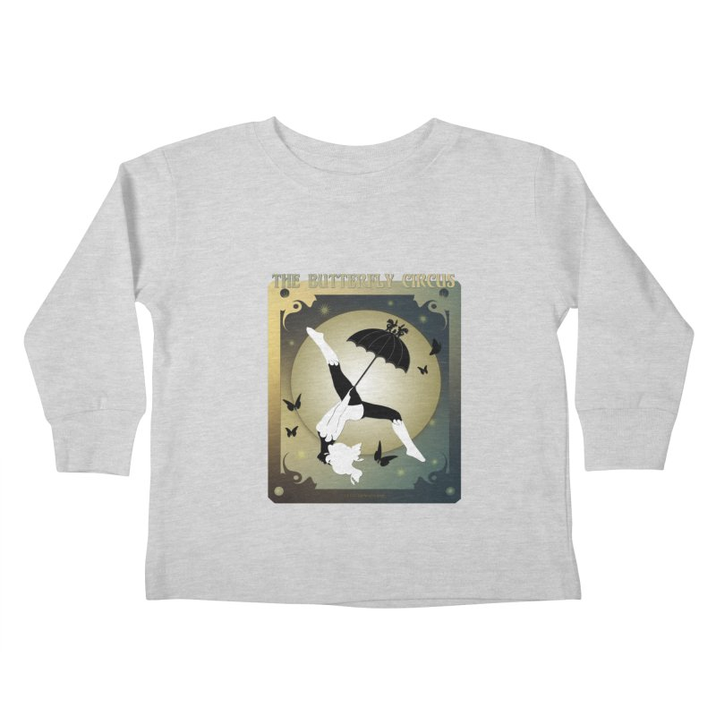 The Butterfly Circus Over the Moon Design Kids Toddler Longsleeve T-Shirt by theatticshoppe's Artist Shop