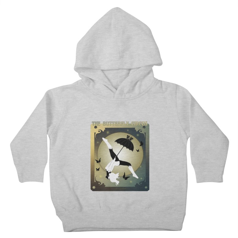 The Butterfly Circus Over the Moon Design Kids Toddler Pullover Hoody by theatticshoppe's Artist Shop