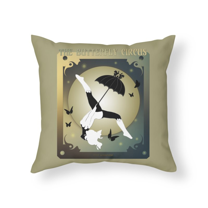 The Butterfly Circus Over the Moon Design Home Throw Pillow by theatticshoppe's Artist Shop