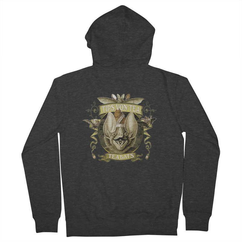 The Tea Bats Tips Von Tea Men's Zip-Up Hoody by theatticshoppe's Artist Shop