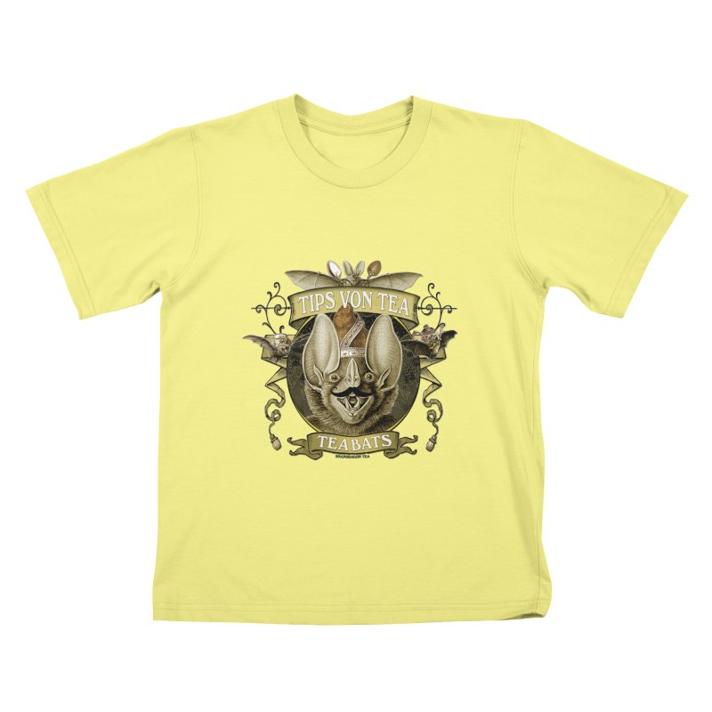 The Tea Bats Tips Von Tea Kids T-shirt by theatticshoppe's Artist Shop