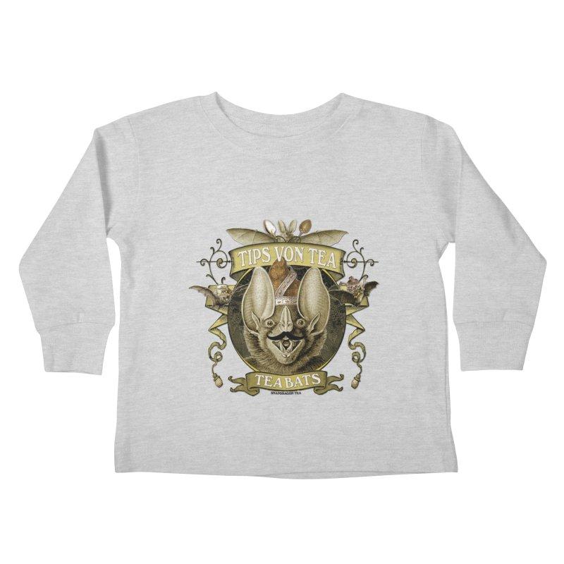 The Tea Bats Tips Von Tea Kids Toddler Longsleeve T-Shirt by theatticshoppe's Artist Shop