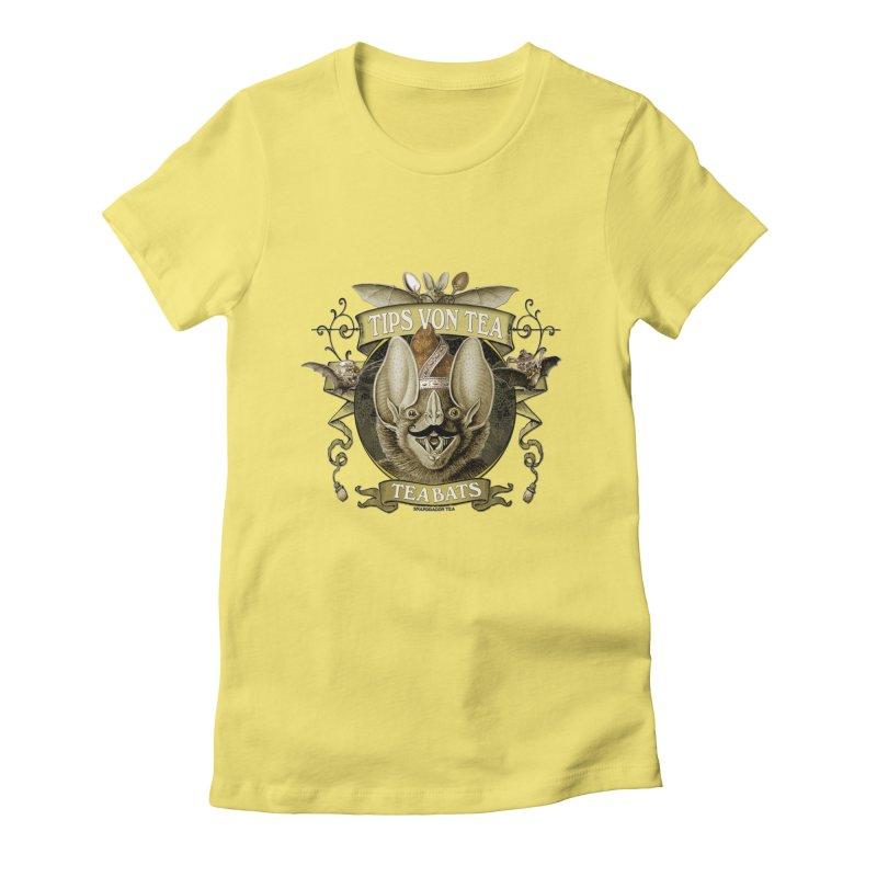The Tea Bats Tips Von Tea Women's Fitted T-Shirt by theatticshoppe's Artist Shop