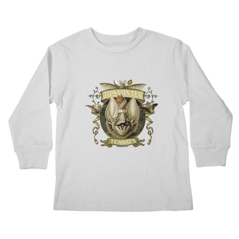 The Tea Bats Tips Von Tea Kids Longsleeve T-Shirt by theatticshoppe's Artist Shop