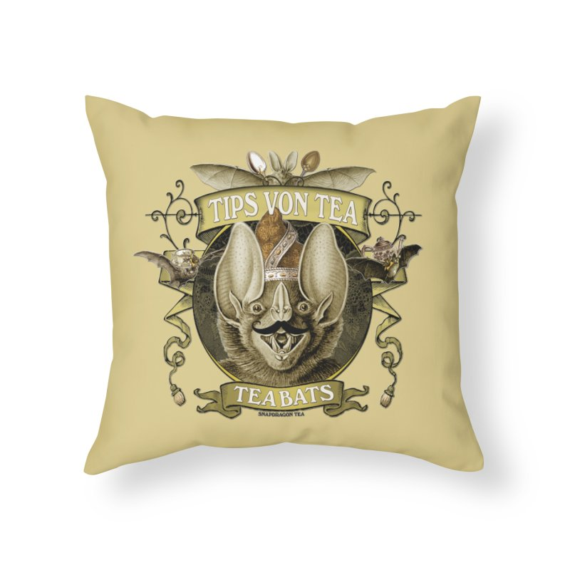 The Tea Bats Tips Von Tea Home Throw Pillow by theatticshoppe's Artist Shop