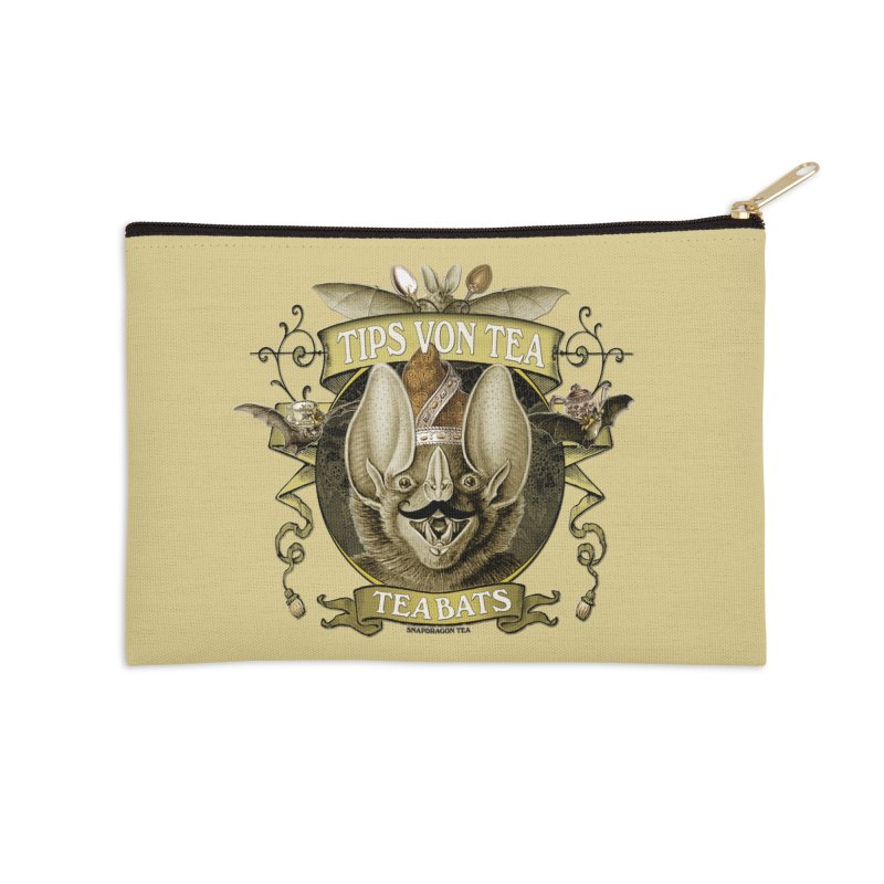 The Tea Bats Tips Von Tea Accessories Zip Pouch by theatticshoppe's Artist Shop