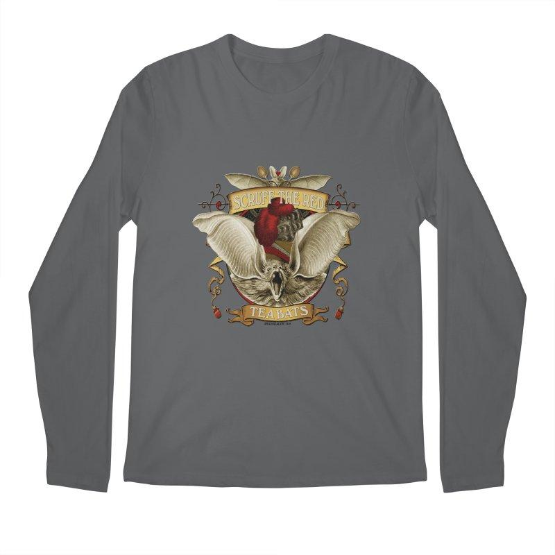 Tea Bats Scruff the Red Men's Longsleeve T-Shirt by theatticshoppe's Artist Shop