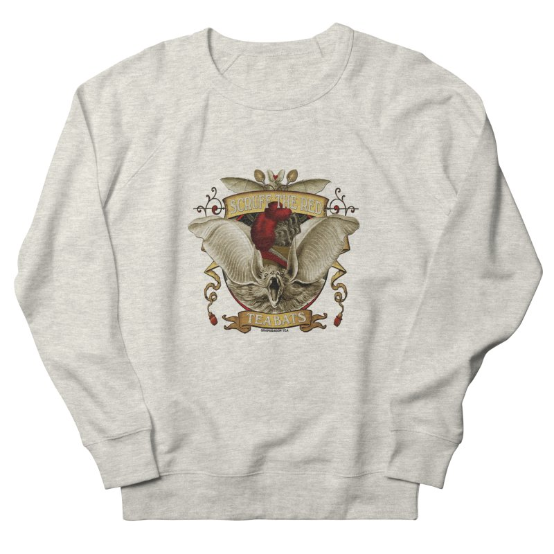 Tea Bats Scruff the Red Men's Sweatshirt by theatticshoppe's Artist Shop