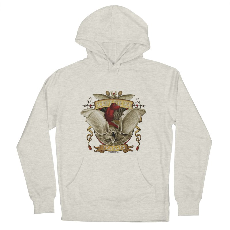 Tea Bats Scruff the Red Women's French Terry Pullover Hoody by theatticshoppe's Artist Shop