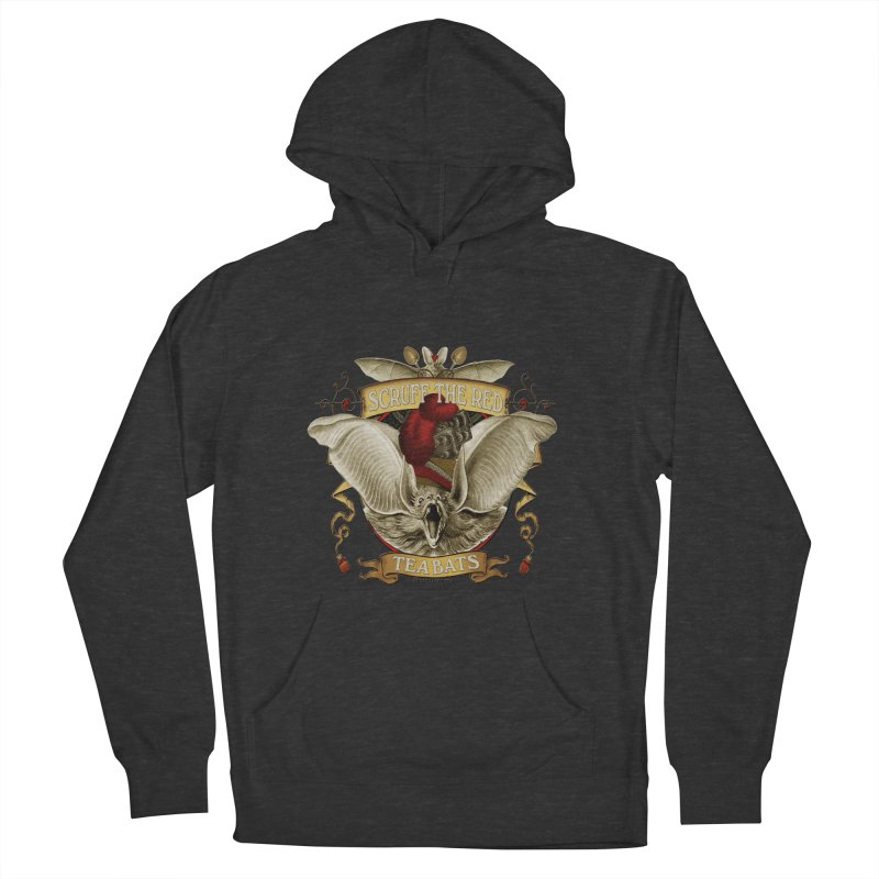 Tea Bats Scruff the Red Men's French Terry Pullover Hoody by theatticshoppe's Artist Shop