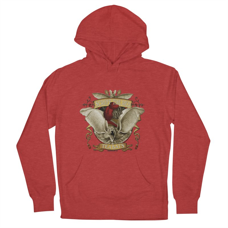 Tea Bats Scruff the Red Men's Pullover Hoody by theatticshoppe's Artist Shop
