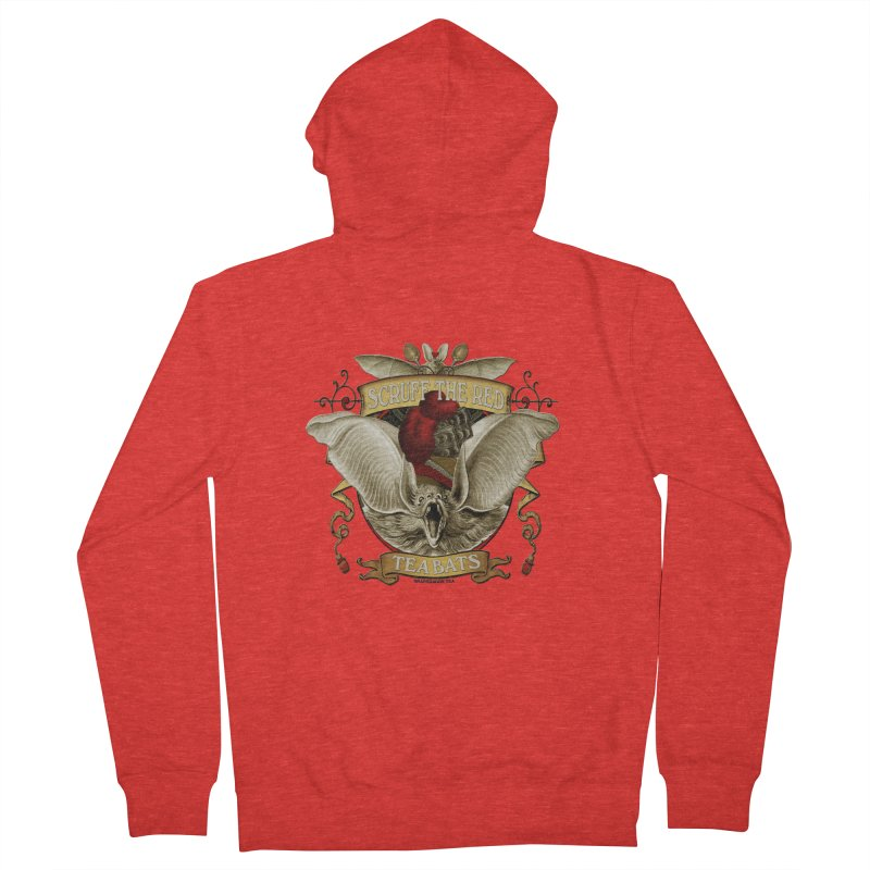 Tea Bats Scruff the Red Women's Zip-Up Hoody by theatticshoppe's Artist Shop
