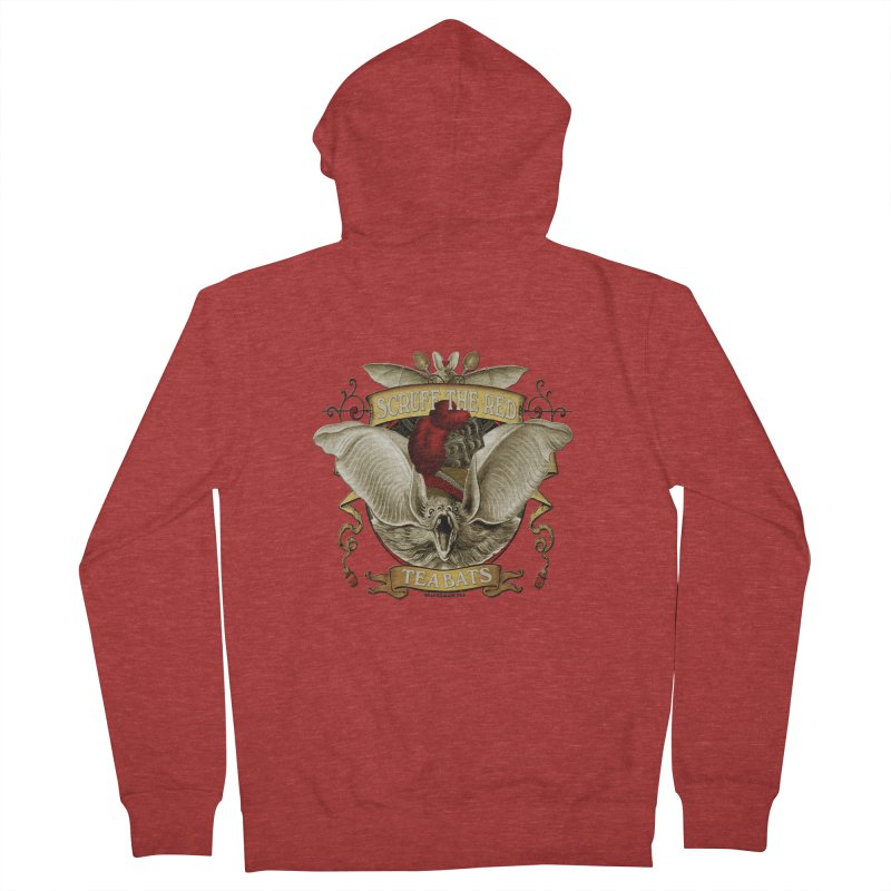 Tea Bats Scruff the Red Women's Zip-Up Hoody by theatticshoppe's Artist Shop