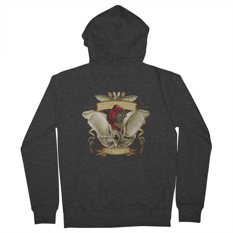 Tea Bats Scruff the Red Men's Zip-Up Hoody by theatticshoppe's Artist Shop
