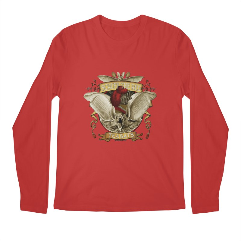 Tea Bats Scruff the Red Men's Regular Longsleeve T-Shirt by theatticshoppe's Artist Shop