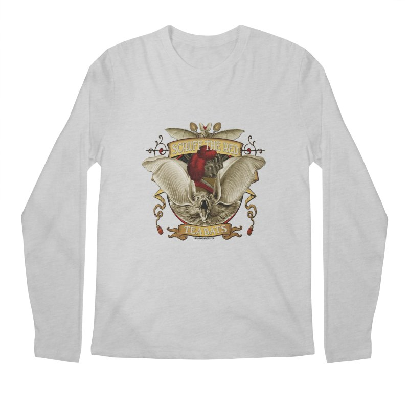 Tea Bats Scruff the Red Men's Longsleeve T-Shirt by theatticshoppe's Artist Shop