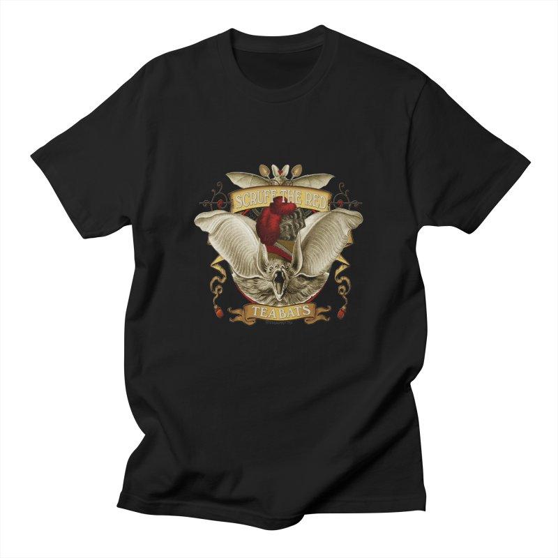 Tea Bats Scruff the Red Men's T-Shirt by theatticshoppe's Artist Shop