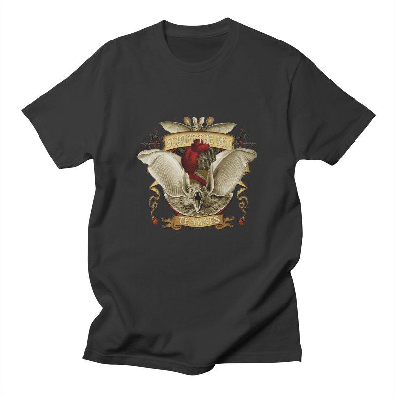 Tea Bats Scruff the Red Men's Regular T-Shirt by theatticshoppe's Artist Shop