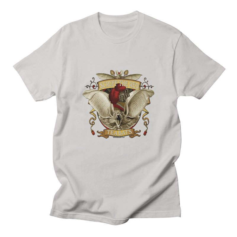 Tea Bats Scruff the Red Men's Regular T-Shirt by theatticshoppe's Artist Shop