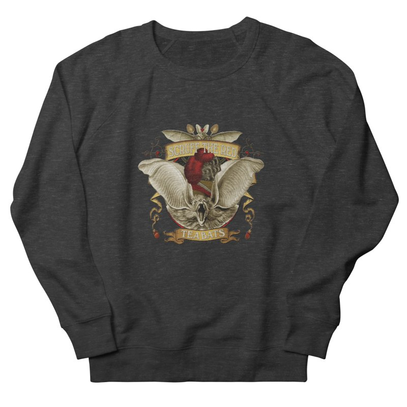 Tea Bats Scruff the Red Men's French Terry Sweatshirt by theatticshoppe's Artist Shop