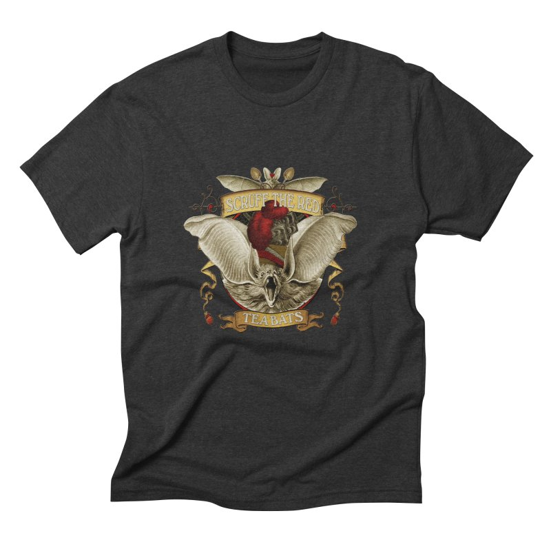 Tea Bats Scruff the Red Men's Triblend T-Shirt by theatticshoppe's Artist Shop