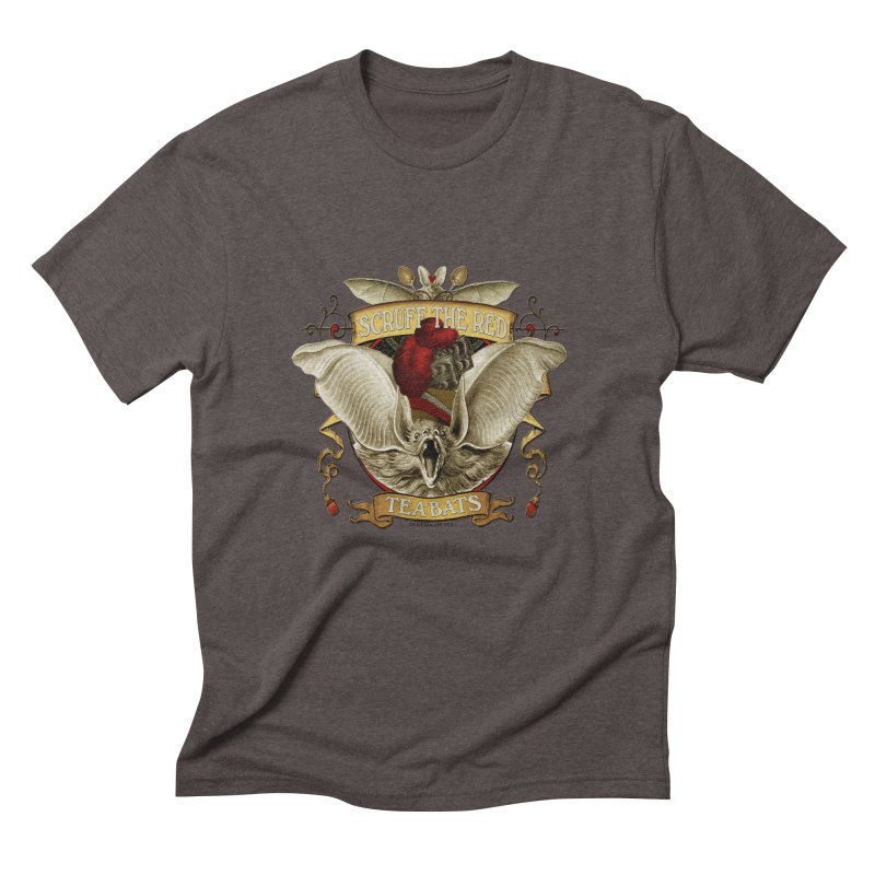 Tea Bats Scruff the Red Men's Triblend T-Shirt by theatticshoppe's Artist Shop