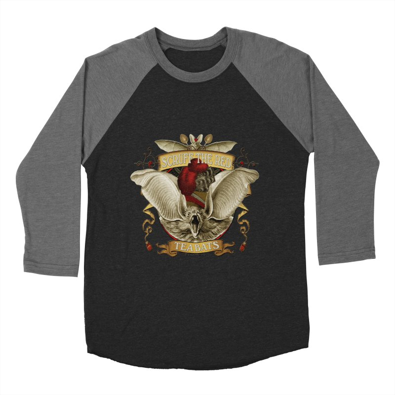 Tea Bats Scruff the Red Women's Baseball Triblend Longsleeve T-Shirt by theatticshoppe's Artist Shop