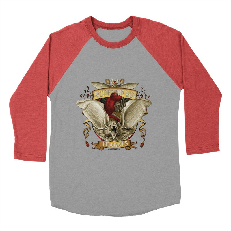 Tea Bats Scruff the Red Men's Baseball Triblend T-Shirt by theatticshoppe's Artist Shop