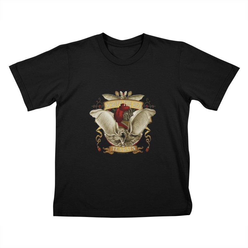 Tea Bats Scruff the Red Kids T-Shirt by theatticshoppe's Artist Shop