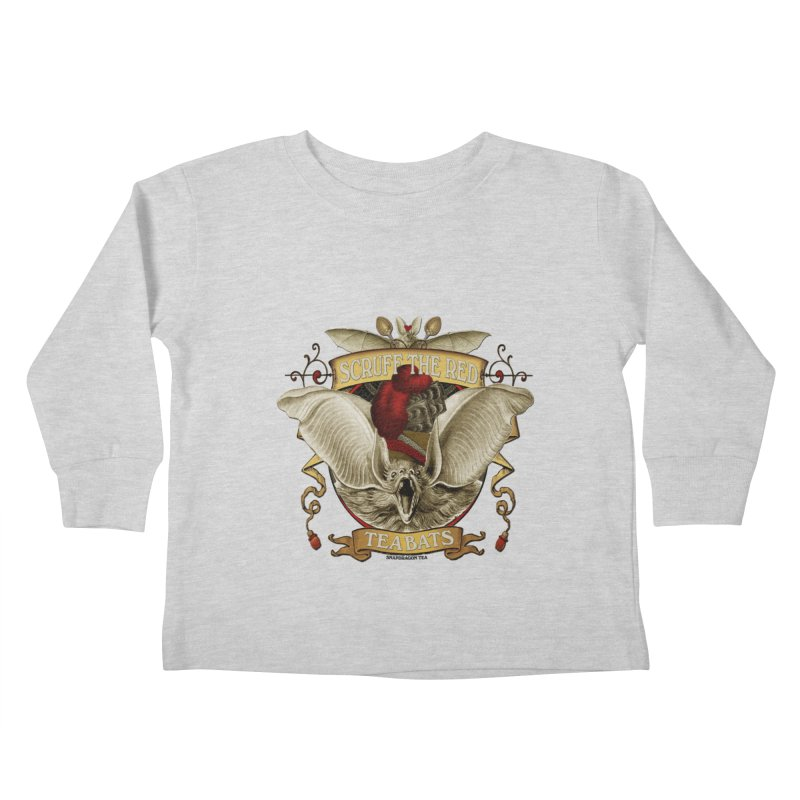 Tea Bats Scruff the Red Kids Toddler Longsleeve T-Shirt by theatticshoppe's Artist Shop