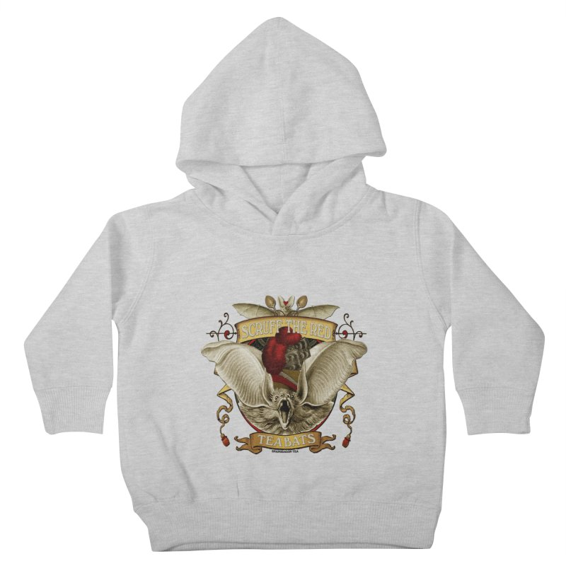 Tea Bats Scruff the Red Kids Toddler Pullover Hoody by theatticshoppe's Artist Shop