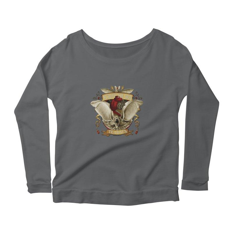 Tea Bats Scruff the Red Women's Longsleeve T-Shirt by theatticshoppe's Artist Shop