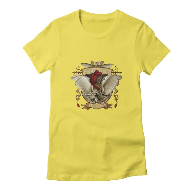 Tea Bats Scruff the Red Women's T-Shirt by theatticshoppe's Artist Shop