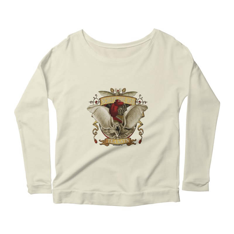 Tea Bats Scruff the Red Women's Scoop Neck Longsleeve T-Shirt by theatticshoppe's Artist Shop