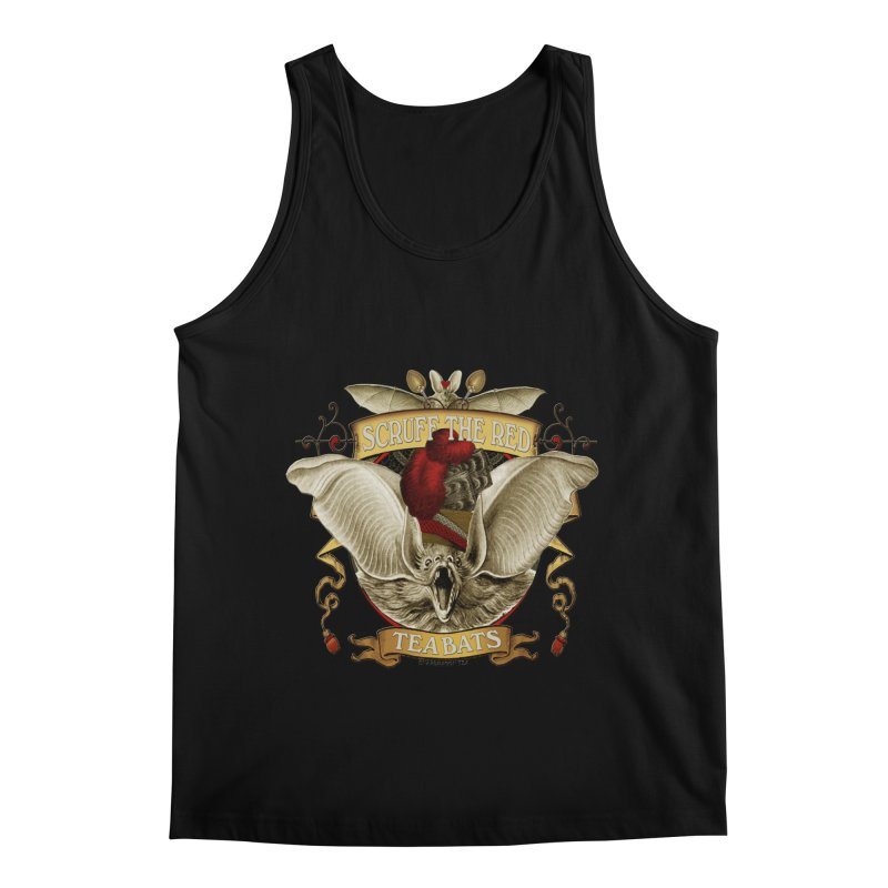 Tea Bats Scruff the Red Men's Regular Tank by theatticshoppe's Artist Shop