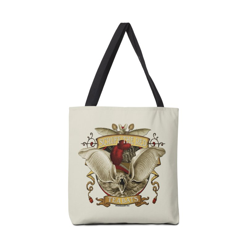 Tea Bats Scruff the Red Accessories Bag by theatticshoppe's Artist Shop