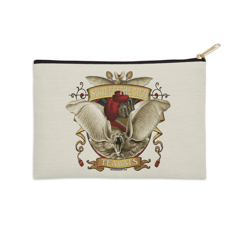 Tea Bats Scruff the Red Accessories Zip Pouch by theatticshoppe's Artist Shop