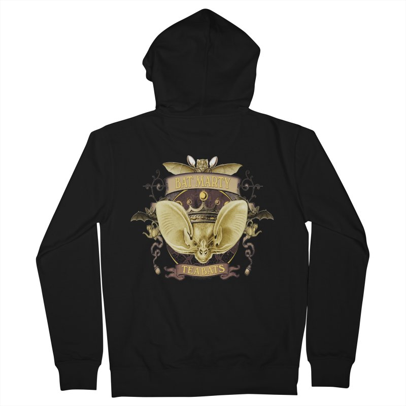 Tea Bats Bat Marty Men's Zip-Up Hoody by theatticshoppe's Artist Shop