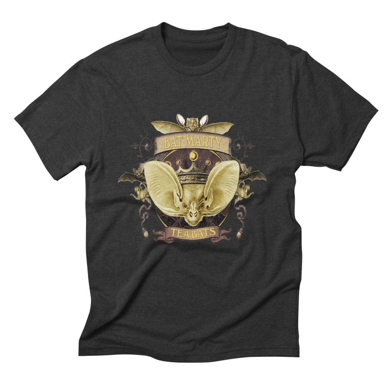 Tea Bats Bat Marty Men's Triblend T-Shirt by theatticshoppe's Artist Shop